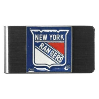 NHL New York Rangers Team Logo Steel Money Clip