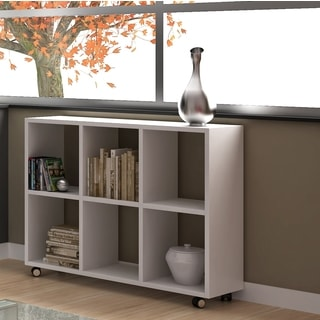 by manhattan comfort salvador white mdf 6shelf bookcase