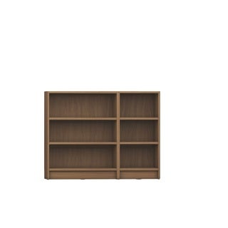 Manhattan Comfort Greenwich 2-piece Lower Bookcase With 6 Wide and Narrow Shelves