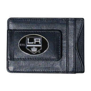 NHL Los Angeles Kings Black Leather Sports Team Logo Cash and Card Holder