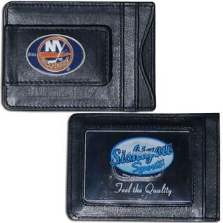 NHL Sports 'New York Islanders' Team Logo Leather Cash and Cardholder (Option: New York Islanders)