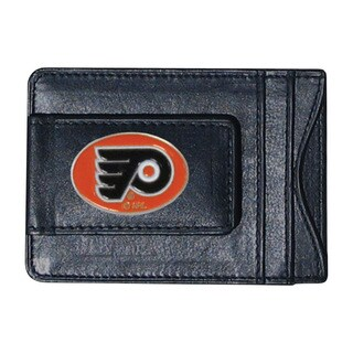 NHL Sports Team Logo Philadelphia Flyers Leather Cash and Card Holder