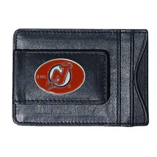 New Jersey Devils Black Leather Cash and Cardholder