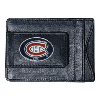 NHL Sports Team Logo Montreal Canadiens Leather Cash and Cardholder
