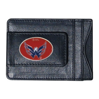NHL Sports Team Logo Washington Capitals Leather Cash and Cardholder
