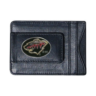 NHL Sports Team Logo Minnesota Wild Leather Cash And Cardholder
