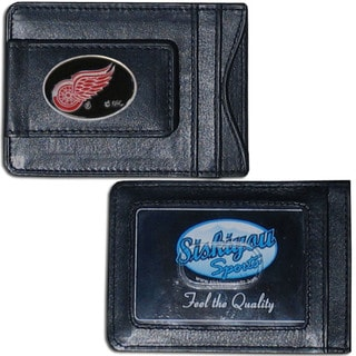 NHL Sports 'Detroit Red Wings' Team Logo Leather Cash and Cardholder