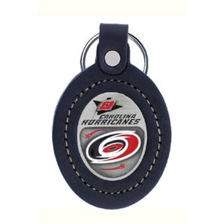 NHL Sports Team Logo Carrolina Hurricanes Leather Key Ring