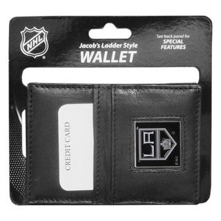 NHL Sports Team Logo Los Angeles Kings Leather Jacob's Ladder Wallet