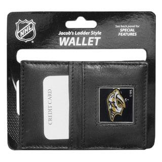 NHL Sports Team Logo Nashville Predators Leather Jacob's Ladder Wallet