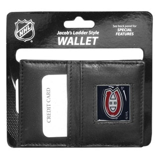 NHL Sports Team Logo Montreal Canadiens Black Leather Jacob's Ladder Wallet