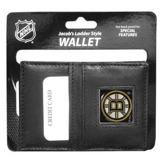 NHL Boston Bruins Black Leather Sports Team Logo Jacob's Ladder Wallet
