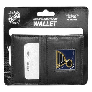 NHL Sports Team Logo St. Louis Blues Leather Jacob's Ladder Wallet