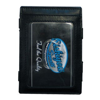 NHL Carolina Hurricanes Black Leather Sports Team Logo Jacob's Ladder Wallet