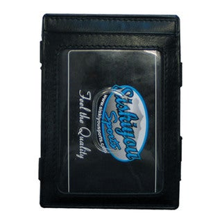 NHL Columbus Blue Jackets Black Leather Jacob's Ladder Wallet