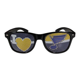 I Heart Game Day NHL Sports Team Logo Black St. Louis Blues Shades