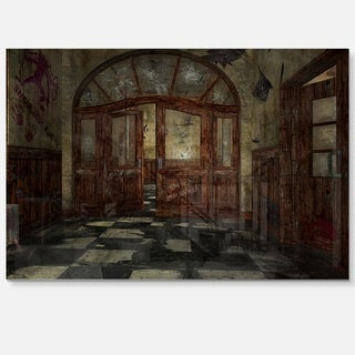 Abandoned Interior - Landscape Painting Glossy Metal Wall Art
