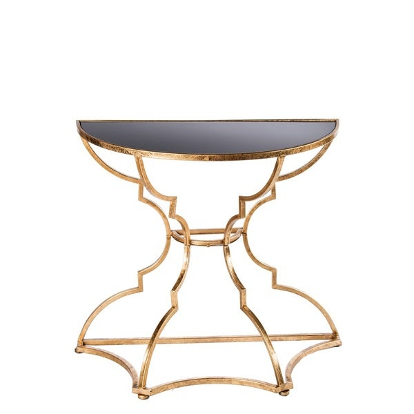 Shop Catherine Black Gold Metal Wood Console Table Free