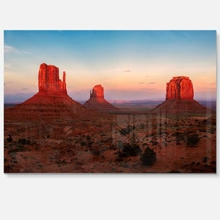 Sunset in Monument Valley - Landscape Glossy Metal Wall Art