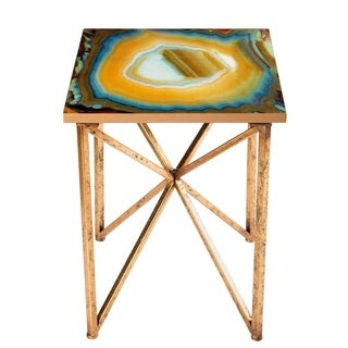 Faux-agate Side Table