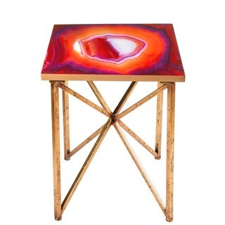 Rouge Agate Side Table