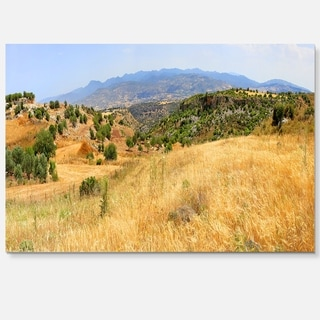 Cyprus Landscape Panoramic View - Landscape Glossy Metal Wall Art