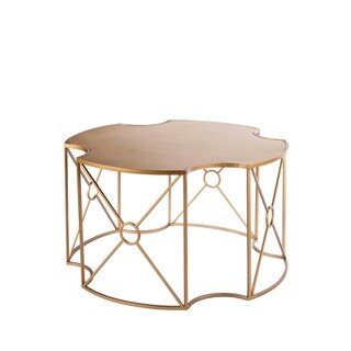Statements by J Melinda White/Goldtone Finish Metal Coffee Table