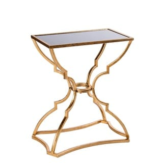 Catherine Gold/White Metal/Wood Side Table