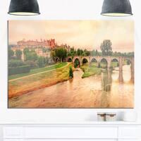 Cite de Carcassonne Panorama - Landscape Glossy Metal Wall Art