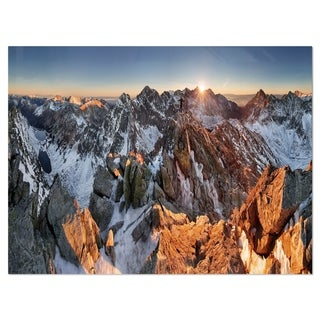 Scenery of High Mountain with Lake - Landscape Glossy Metal Wall Art