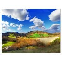 Spectacular Toscana Panorama - Landscape Glossy Metal Wall Art