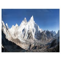 Mount Everest Glacier Panorama - Landscape Glossy Metal Wall Art