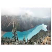 Beautiful Petyo Lake Panorama - Landscape Glossy Metal Wall Art