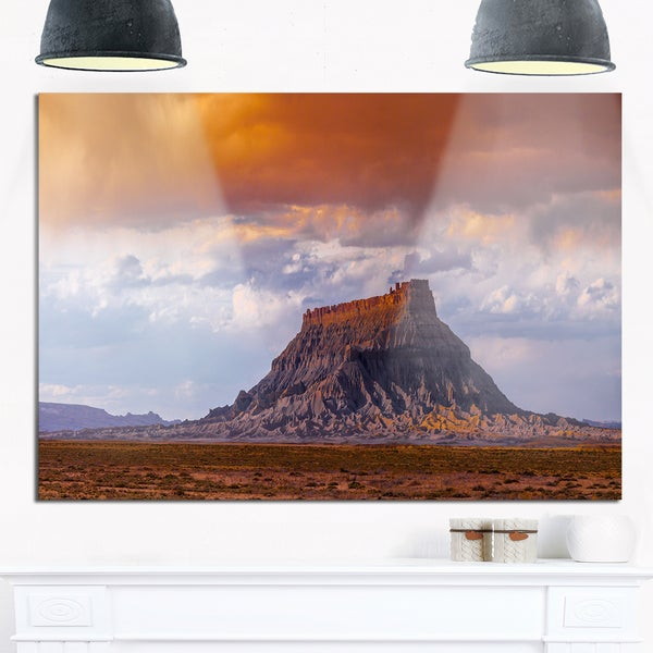 Factory Buttle Utah Panorama - Landscape Glossy Metal Wall Art