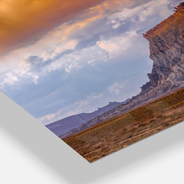 Factory Buttle Utah Panorama Landscape Glossy Metal Wall Art Overstock 12779561