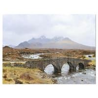 Sligachan Old Bridge Panorama - Landscape Glossy Metal Wall Art