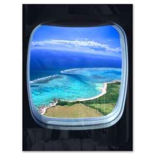 Ocean View from Window - Seascape Photo Glossy Metal Wall Art