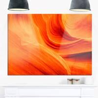Orange Upper Antelope Canyon - Landscape Photo Glossy Metal Wall Art