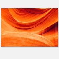 Antelope Canyon Orange Wall - Landscape Photo Glossy Metal Wall Art