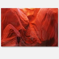 Magic Colors of Antelope Canyon - Landscape Photo Glossy Metal Wall Art