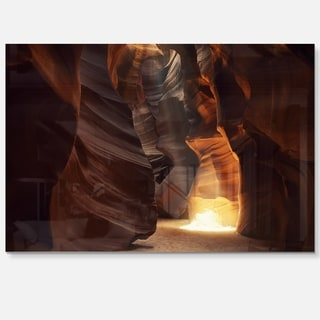 Sunbeam In Antelope Canyon - Landscape Photo Glossy Metal Wall Art