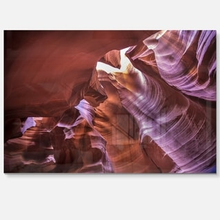 Light in Antelope Canyon - Landscape Photo Glossy Metal Wall Art