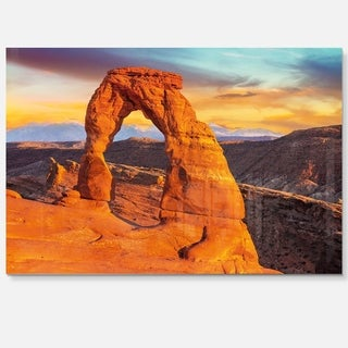 Delicate Arch in Arches Park - Landscape Photo Glossy Metal Wall Art