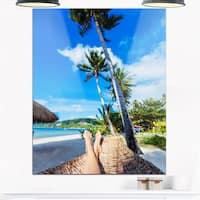 Relaxing in Hammock - Landscape Photography Glossy Metal Wall Art