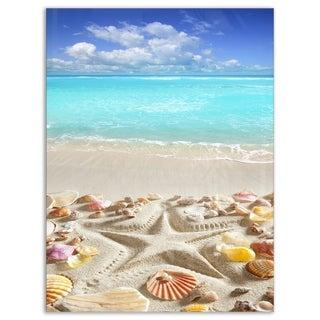 Caribbean Sea Starfish - Beach and Shore Glossy Metal Wall Art
