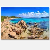 Coastline Panorama - Beach and Shore Photo Glossy Metal Wall Art