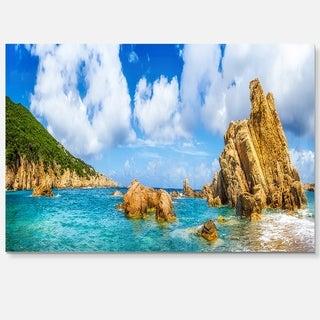Costa Paradise Panorama - Seashore Photo Glossy Metal Wall Art