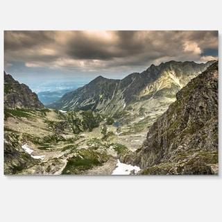 Tatra Mountains from Hiking Trail - Landscape Photo Glossy Metal Wall Art