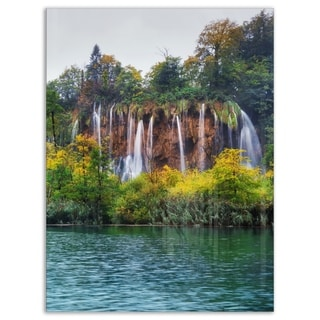 Plitvice Lakes Croatia - Landscape Photo Glossy Metal Wall Art