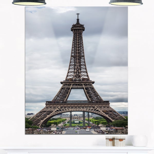 Shop Grayscale Eiffel Tower - Cityscape Photography Glossy Metal ...